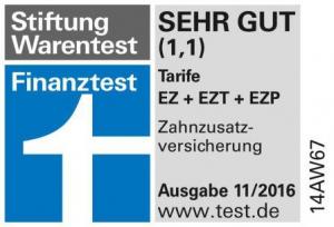 Siegel Stiftung Warentest - Testurteil SEHR GUT