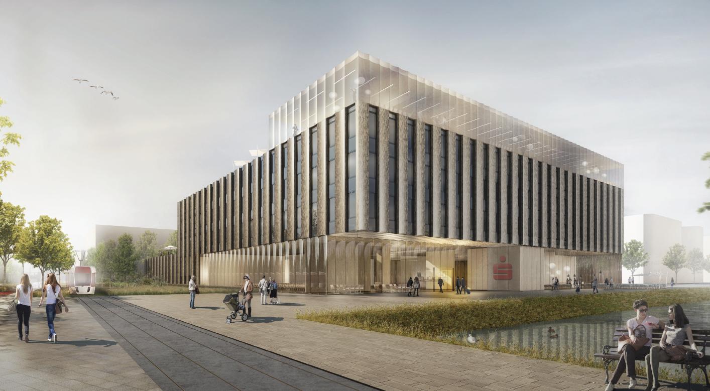 Neues verwaltungsgeb ude der sparkasse bremen im for Architektur aachen