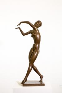 Milly Steger: Tänzerin, 1921/22 Bronze, Sammlung Karl H. Knauf, Berlin ©Foto: Rüdiger Lubricht, Worpswede